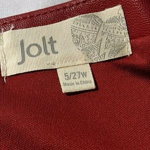 Jolt Skirts - Jolt Faux Leather Skirt 5/27 Red